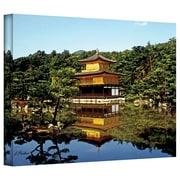 "ArtWall ""Kyoto's Golden Pavilion"" Gallery Wrapped Canvas Art By Linda Parker, 24"" x 32"""