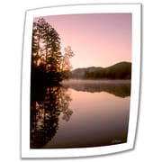 ArtWall Mirror Lake, Lake Placid Unwrapped Canvas Art By Linda Parker, 18 x 14