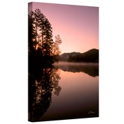 ArtWall Mirror Lake, Lake Placid Gallery Wrapped Canvas Art By Linda Parker, 18 x 14