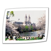 ArtWall The Dakota and Central Park Unwrapped Canvas Art By Linda Parker, 14 x 18