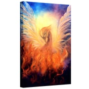 "ArtWall ""Phoenix by Rising"" Gallery Wrapped Canvas Art By Marina Petro, 36"" x 24"""