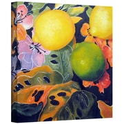 "ArtWall ""Limes and Lemons"" Gallery Wrapped Canvas Art By Marina Petro, 18"" x 18"""