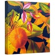 """ArtWall """"Love That Orange"""" Gallery Wrapped Canvas Art By Marina Petro, 18"""" x 18"""""""