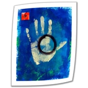 "ArtWall ""Health Hand Print"" Unwrapped Canvas Art By Elena Ray, 24"" x 18"""