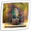 "ArtWall ""Buddha"" Unwrapped Canvas Arts By Elena Ray"