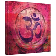 ArtWall Om Mandala Gallery Wrapped Canvas Art By Elena Ray, 18 x 18