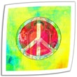 ArtWall in.Peace Signin. Unwrapped Canvas Art By Elena Ray, 24in. x 24in.