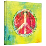 ArtWall Peace Sign Gallery Wrapped Canvas Art By Elena Ray, 14 x 14