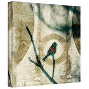 ArtWall Yoga Bird-2 Gallery Wrapped Canvas Art By Elena Ray, 36 x 36