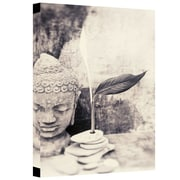 "ArtWall ""Black And White Buddha"" Gallery Wrapped Canvas Art By Elena Ray, 16"" x 24"""