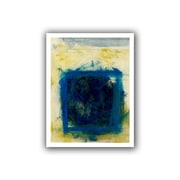 ArtWall Blue Square Gallery Wrapped Canvas Art By Elena Ray, 14 x 18