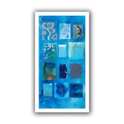 ArtWall Blue Tree Collage Flat Unwrapped Canvas Art By Elena Ray, 12 x 24