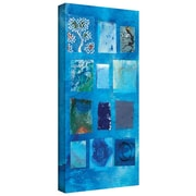 """ArtWall """"Blue Tree Collage"""" Gallery Wrapped Canvas Art By Elena Ray, 24"""" x 48"""""""