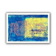 "ArtWall ""Blue With Stencils"" Flat Unwrapped Canvas Art By Elena Ray, 12"" x 18"""