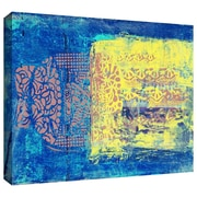 ArtWall Blue With Stencils Gallery Wrapped Canvas Art By Elena Ray, 32 x 48