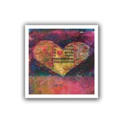"ArtWall ""Tantra Heart"" Flat Unwrapped Canvas Art By Elena Ray, 14"" x 14"""