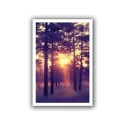 ArtWall Woodland Sunset Flat Unwrapped Canvas Art By Elena Ray, 12 x 18