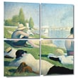 """ArtWall """"Bathers At Asnieres"""" 4 Piece Gallery Wrapped Canvas Art By Georges Seurat, 36"""" x 36"""""""