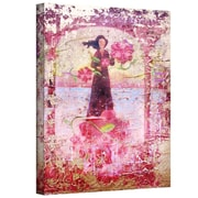 "ArtWall ""Flower Happy"" Gallery Wrapped Canvas Arts By Greg Simanson"