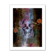 "ArtWall ""Skull"" Flat Unwrapped Canvas Arts By Greg Simanson"