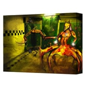 "ArtWall ""Jackal"" Gallery Wrapped Canvas Art By Pyro Painter, 14"" x 18"""
