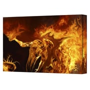 """ArtWall """"Pyro"""" Gallery Wrapped Canvas Art By Pyro Painter, 14"""" x 18"""""""