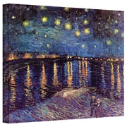 """ArtWall """"Starry Night Over..."""" Rolled Canvas Art By Vincent Van Gogh, 12"""" x 16"""""""