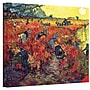 ArtWall Red Vineyard at Arles Gallery Wrapped Canvas