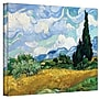 ArtWall Wheatfield with Cypresses Gallery Wrapped Canvas Art