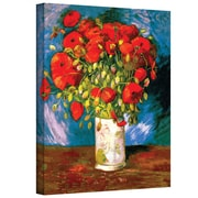 "ArtWall ""Poppies"" Gallery Wrapped Canvas Art By Vincent Van Gogh, 24"" x 32"""