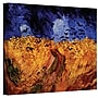 ArtWall Wheatfield with Crows Gallery Wrapped Canvas Art