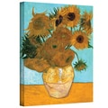 ArtWall in.Vase with Twelve Sunflowersin. Gallery Wrapped Canvas Arts By Vincent Van Gogh