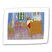 "ArtWall ""The Bedroom"" Flat/Rolled Canvas Art By Vincent Van Gogh, 18"" x 24"""