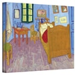 ArtWall in.The Bedroomin. Gallery Wrapped Canvas Art By Vincent Van Gogh, 36in. x 48in.