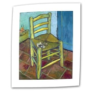 "ArtWall ""Vincent's Chair"" Flat/Rolled Canvas Art By Vincent Van Gogh, 36"" x 48"""