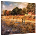 ArtWall in.Banks of The Seinein. Gallery Wrapped Canvas Arts By Vincent Van Gogh