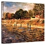 ArtWall Banks of The Seine Gallery Wrapped Canvas