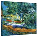 ArtWall in.Bank of The Oise at Auverin. Gallery Wrapped Canvas Arts By Vincent Van Gogh