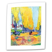 "ArtWall ""Les Alyscamps F569"" Flat/Rolled Canvas Art By Vincent Van Gogh, 14"" x 18"""