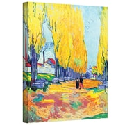"ArtWall ""Les Alyscamps F569"" Gallery Wrapped Canvas Arts By Vincent Van Gogh"