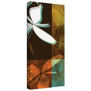 "ArtWall ""Espresso Floral II"" Gallery Wrapped Canvas Art By Jan Weiss, 24"" x 12"""