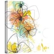 ArtWall Orange Botanica Gallery Wrapped Canvas Art By Jan Weiss, 24 x 24