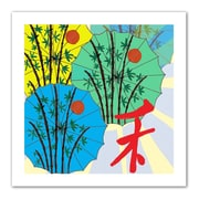 "ArtWall ""Parasol Parade"" Flat Unwrapped Canvas Art By Jan Weiss, 14"" x 14"""