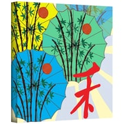 ArtWall Parasol Parade Gallery Wrapped Canvas Art By Jan Weiss, 36 x 36