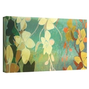 """ArtWall """"Shadow Florals"""" Gallery Wrapped Canvas Art By Jan Weiss, 16"""" x 48"""""""