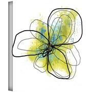 "ArtWall ""Citron Petals II"" Gallery Wrapped Canvas Art By Jan Weiss, 18"" x 18"""