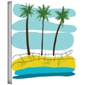 ArtWall in.Beach Day Palms IIin. Gallery Wrapped Canvas Arts By Jan Weiss
