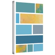 "ArtWall ""Paint Swatches II"" Gallery Flat Wrapped Canvas Art By Jan Weiss, 18"" x 12"""