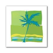 "ArtWall ""Single Palm"" Unwrapped Canvas Art By Jan Weiss, 14"" x 14"""