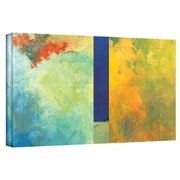 "ArtWall ""Textured Earth Panel III"" Gallery Flat Wrapped Canvas Art By Jan Weiss, 12"" x 24"""